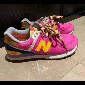 new balance pink  trainers shoes sneakers